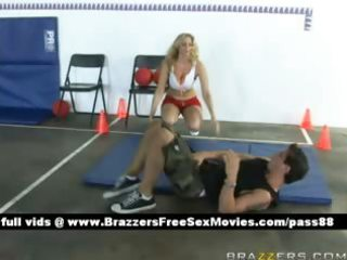 older blonde babe on the floor acquires a blow job