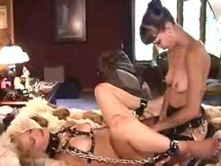 aged lesbo thraldom and spanking