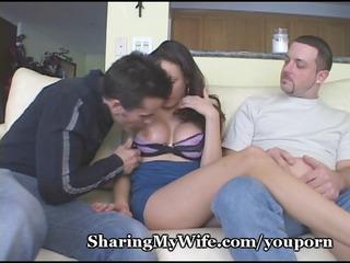 blasting cum on my wifes face