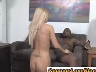 hot interracial cougar gets sexy