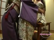 asian teen in kimono getting her pussy licked