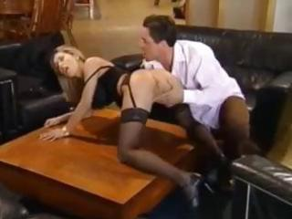 naughty golden-haired mamma has a fierce quickie