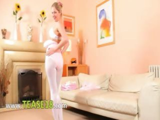 sexy mama in white hose undress
