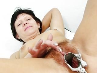fuckable brunette granny receives her hirsute