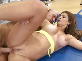 older latina filled by a large pounder
