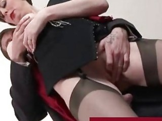 spruce older lady in stockings fucking