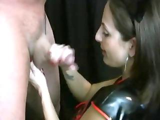 lola lynn nurse in leather cook jerking