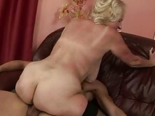 granny enjoying sex with youthful man