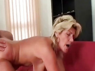 granny swallows a large pounder and copulates it