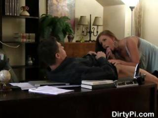 boss caught cheating on his wife getting oral in