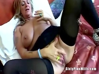 big tit granny toying cookie