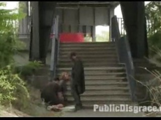 Outdoor bdsm euro public milf slave anal
