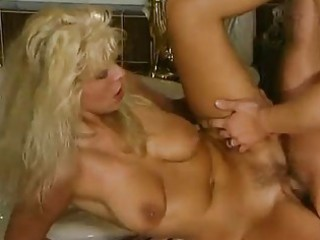 aged german blonde fucked in the washroom