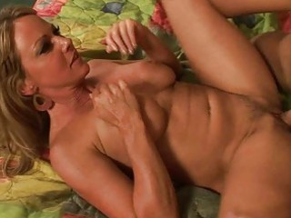 Blonde milf gets hardcore pleasure