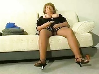 corpulent aged cougar receive lustful
