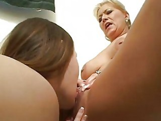 wicked lesbian learns from mature lesbian