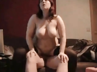 curvy wife a-hole fucked on homemade
