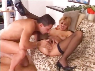 blond playgirl fisted and gangbanged hard