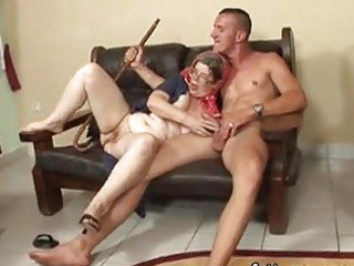 older amazing granny hungry juvenile man sex on a