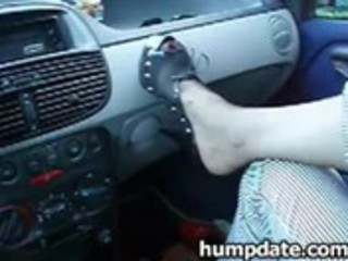 wife gives hubby cook jerking and footjob in