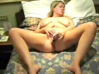 home made. standing wife masturbates. she is
