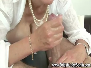 Mature bitch Lady Sonia taunts cock