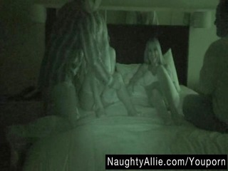 FOURSOME ON NIGHT VISION CAM - WIFE SWAPPING GROUP
