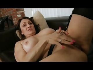 milf fingering in stockings