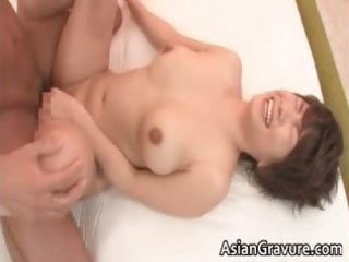 lustful oriental mother i receives facial after