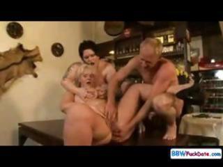 group sex bonanza for threesome chunky chicks,
