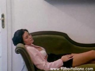 italian brunette hair wife acquires her love