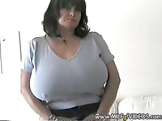 breasty granny mother i in crotchless nylons and