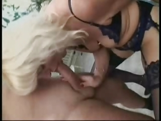 golden-haired german mature in stockings