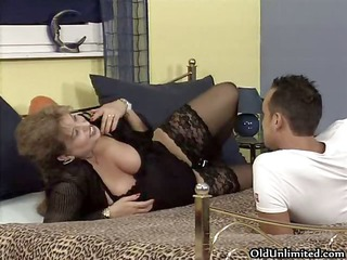 busty old woman receives concupiscent getting her