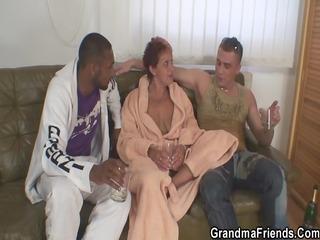 granny takes 2 big ramrods