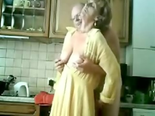 granny receives fingered by her old guy