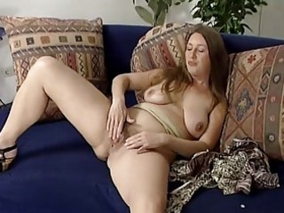 mature golden-haired playing with herself