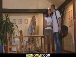 he leaves and his sultry gf and crazy mother get