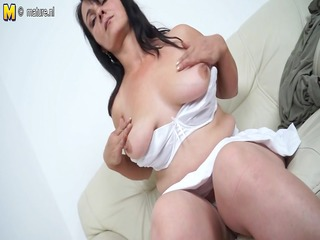 sexy mother masturbating when this honey is all