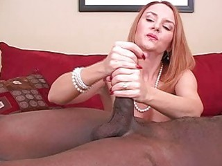 Mature amateur wife interracial cuckold handjobs