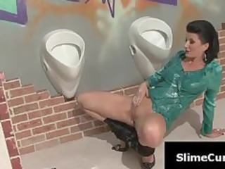 schlong engulfing milf showered in cum during the