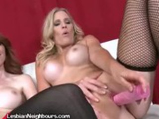 horny milfs fuck their snatches with dildos