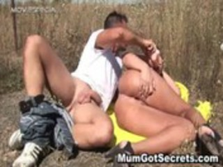 Steamy mother getting humped hard public