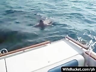 non-professional fuck on the boat