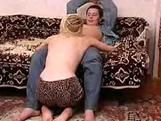 slim russian mature lady fucking with a chap