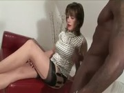 interracial aged hottie gives handjob