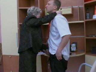 granny fucks the office guy
