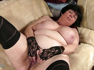 large titted granny showing her old slit