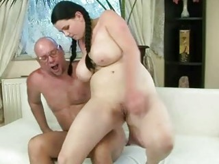 favourable grandad fucking with busty legal age