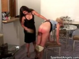 blonde d like to fuck receives bent over knees to